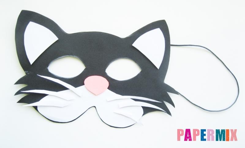 Как сделать маску кошки из бумаги своими руками поэтапно