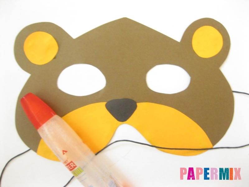 Как сделать маску медведя из бумаги своими руками - шаг 10