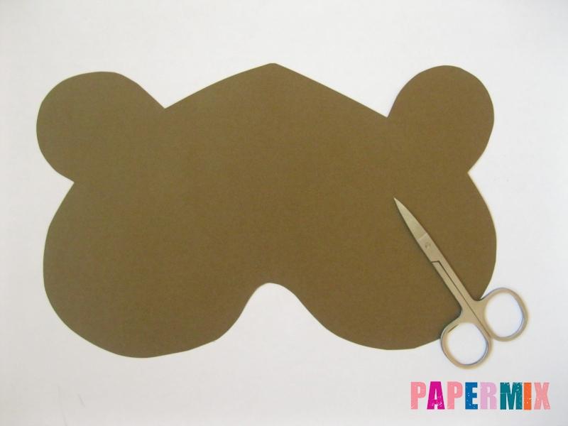 Как сделать маску медведя из бумаги своими руками - шаг 2