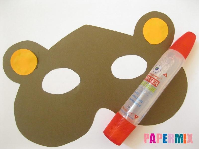 Как сделать маску медведя из бумаги своими руками - шаг 5