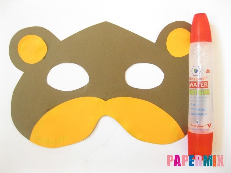 Как сделать маску медведя из бумаги своими руками - шаг 7