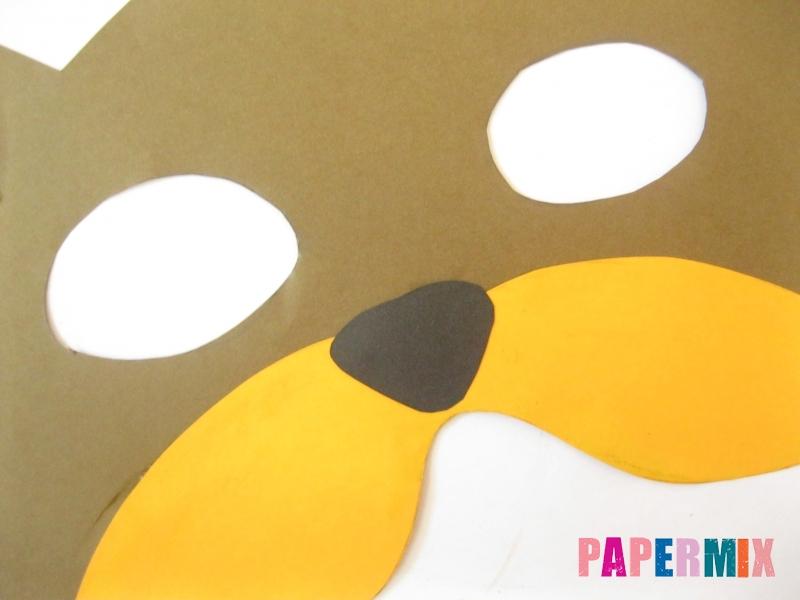 Как сделать маску медведя из бумаги своими руками - шаг 9