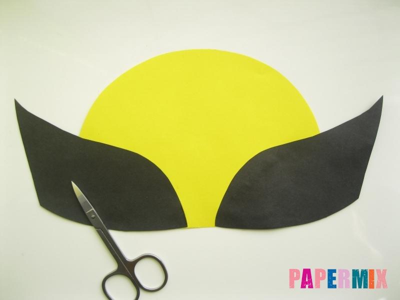 Как сделать маску Росомахи из бумаги своими руками - шаг 4