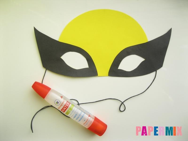 Как сделать маску Росомахи из бумаги своими руками - шаг 7