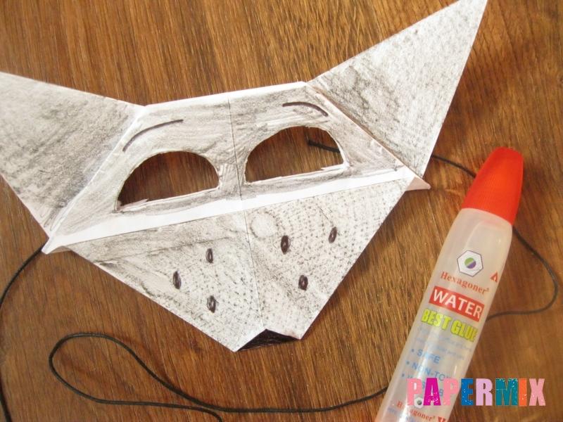 Как сделать маску волка из бумаги своими руками - шаг 18