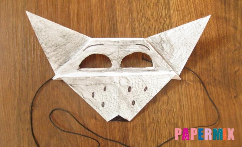 Как сделать маску волка из бумаги своими руками поэтапно