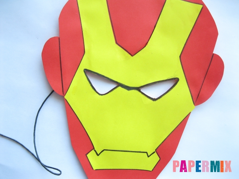 Как сделать маску железного человека из бумаги поэтапно - шаг 11