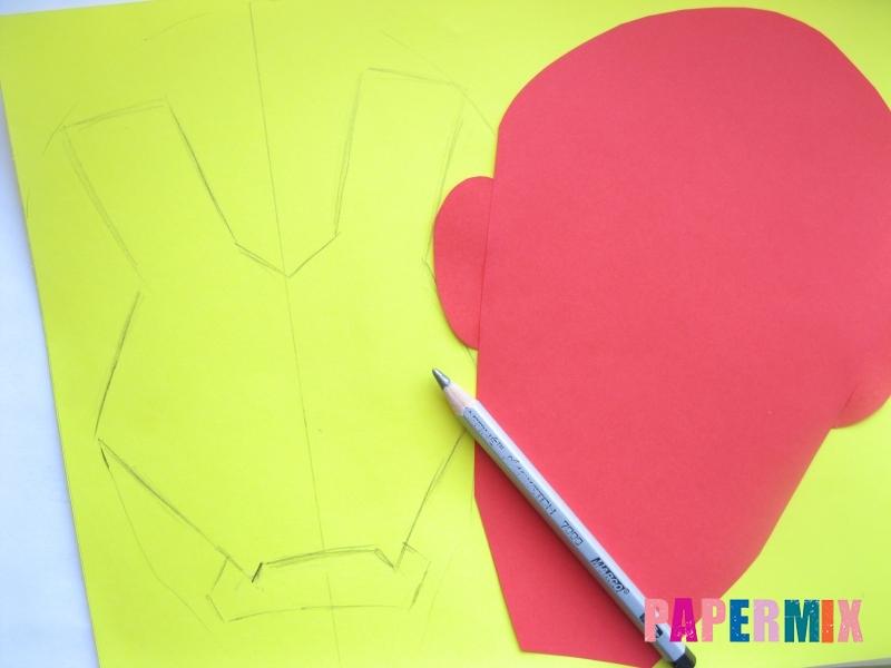 Как сделать маску железного человека из бумаги поэтапно - шаг 4