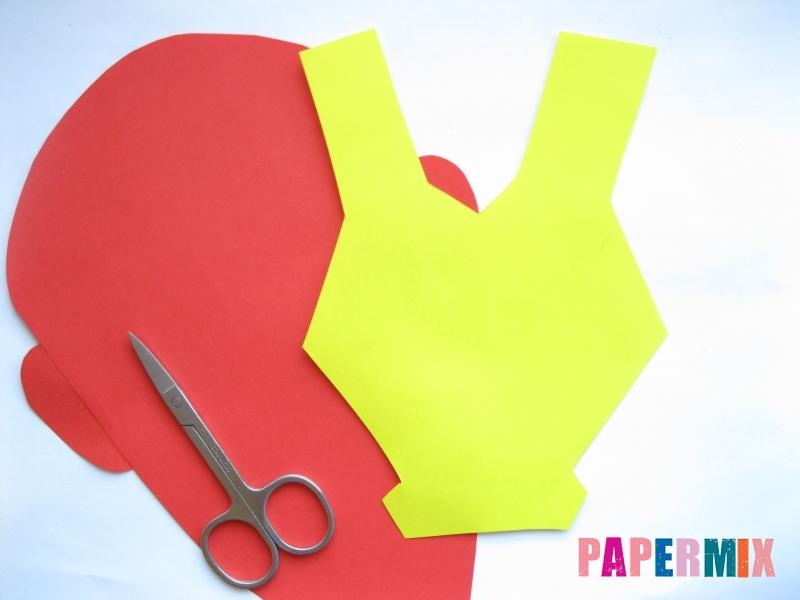 Как сделать маску железного человека из бумаги поэтапно - шаг 5