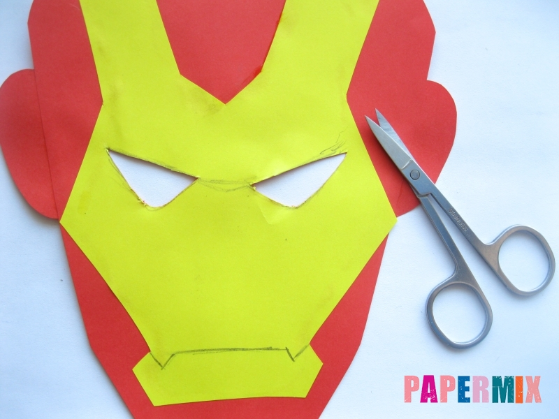 Как сделать маску железного человека из бумаги поэтапно - шаг 8