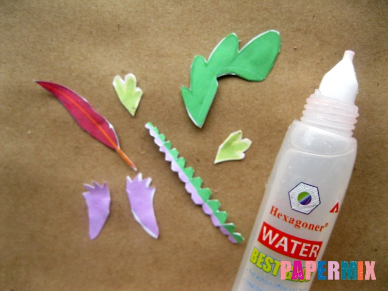 Как сделать дракончика Спайка из бумаги по шаблону своими руками - шаг 8