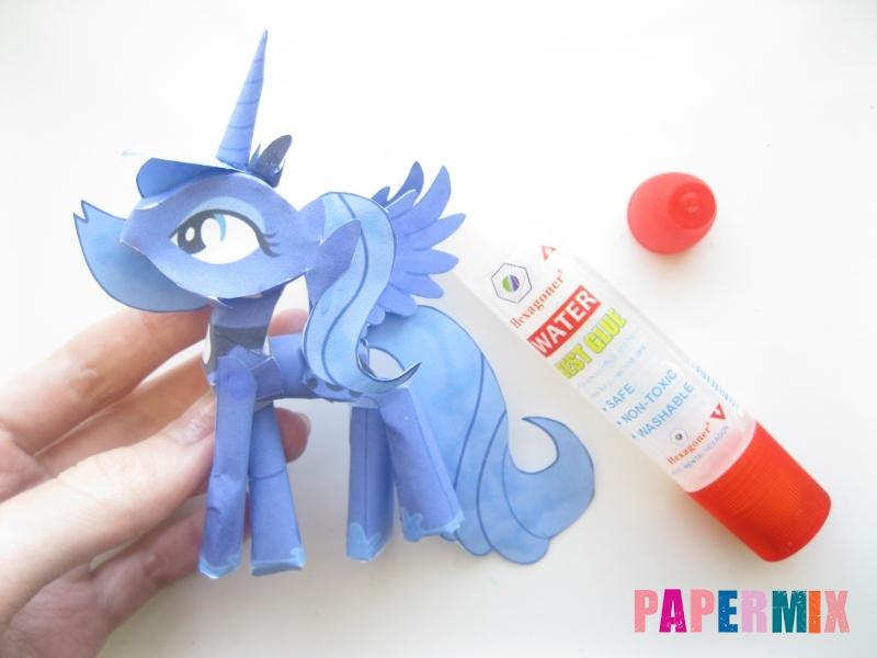 Как сделать Принцессу Луну по шаблону из бумаги своими руками - шаг 17