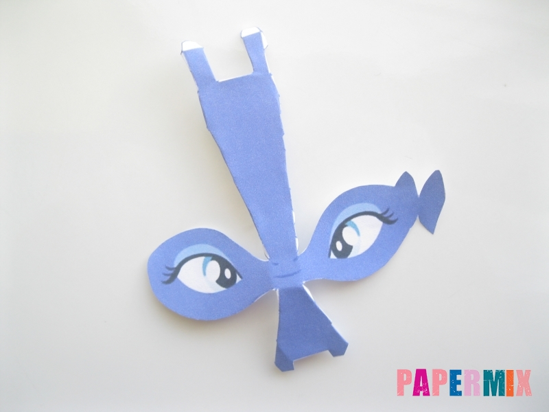 Как сделать Принцессу Луну по шаблону из бумаги своими руками - шаг 2