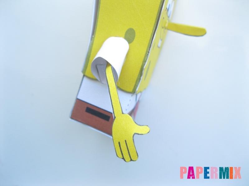 Как сделать Губку Боба из бумага по шаблону своими руками - шаг 11
