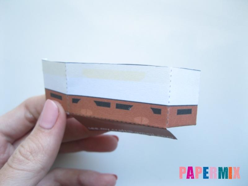 Как сделать Губку Боба из бумага по шаблону своими руками - шаг 6