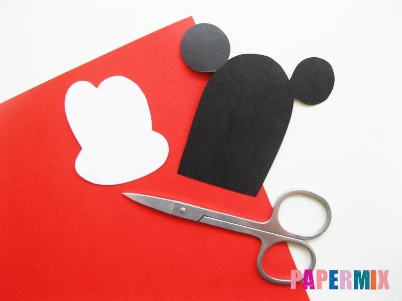 Как сделать Микки-Мауса из бумаги своими руками - шаг 6