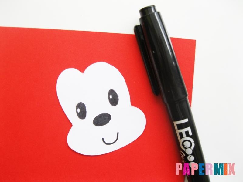 Как сделать Микки-Мауса из бумаги своими руками - шаг 8