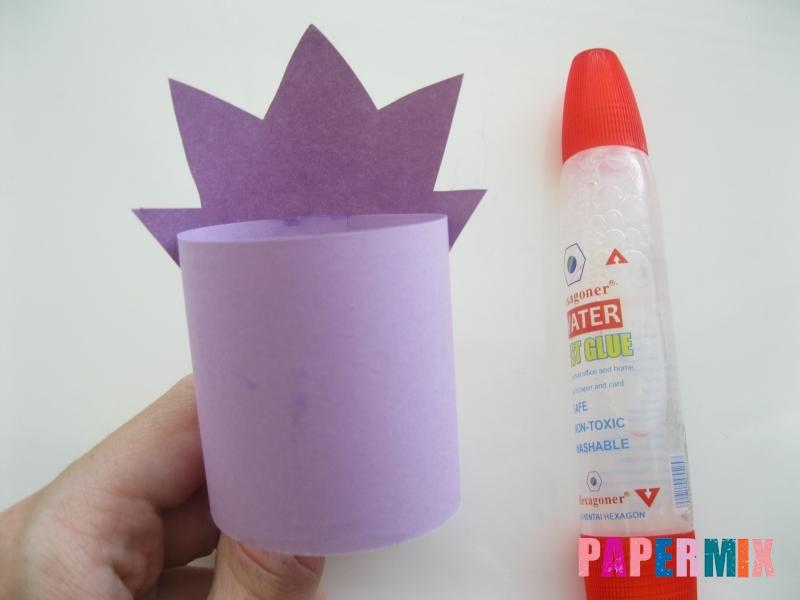 Как сделать объемного смешарика Ежика из бумаги своими руками - шаг 5