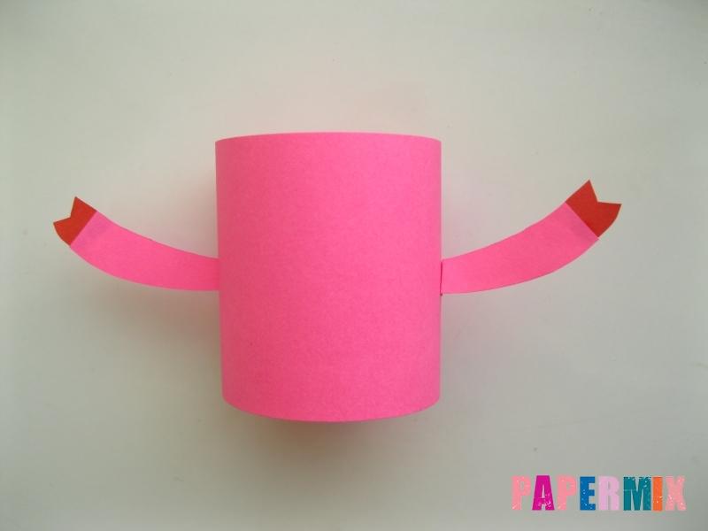 Как сделать объемную Нюшу из бумаги своими руками - шаг 4