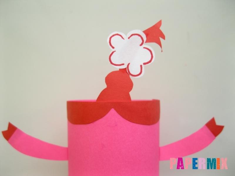 Как сделать объемную Нюшу из бумаги своими руками - шаг 7