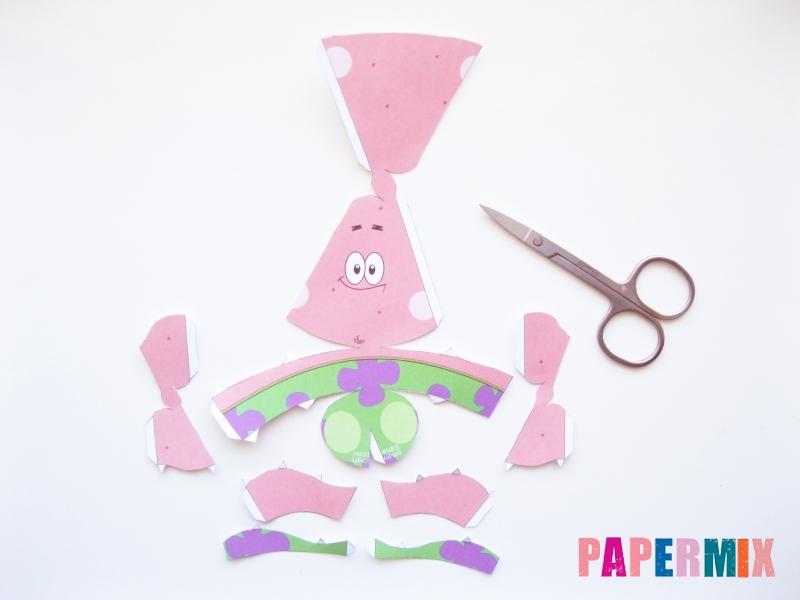 Как сделать Патрика из бумага по шаблону поэтапно - шаг 1