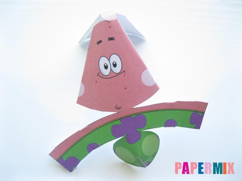 Как сделать Патрика из бумага по шаблону поэтапно - шаг 2