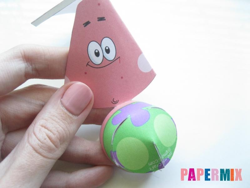 Как сделать Патрика из бумага по шаблону поэтапно - шаг 3