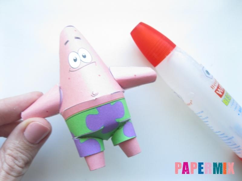 Как сделать Патрика из бумага по шаблону поэтапно - шаг 8