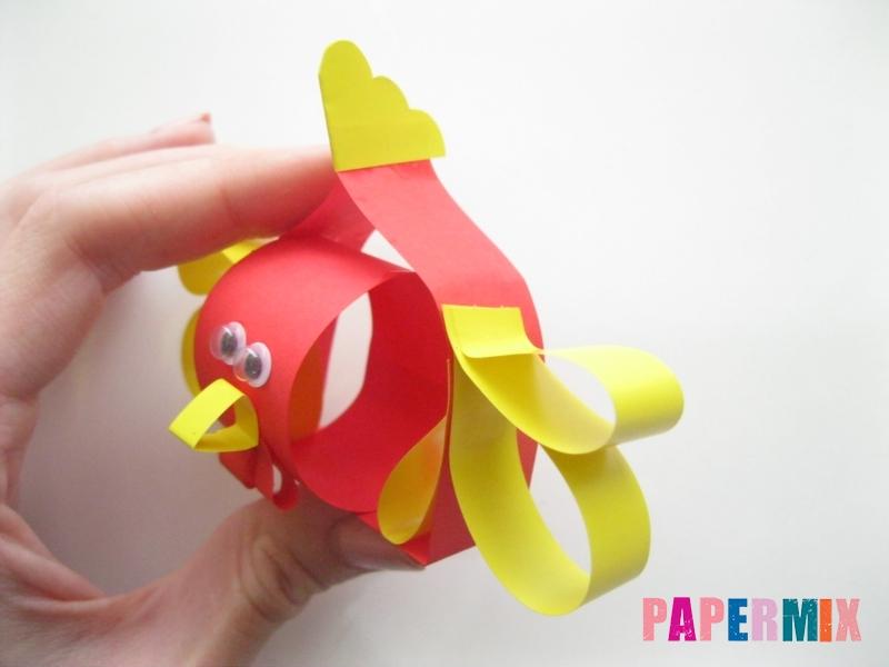 Как сделать объемного петуха из бумаги своими руками - шаг 13