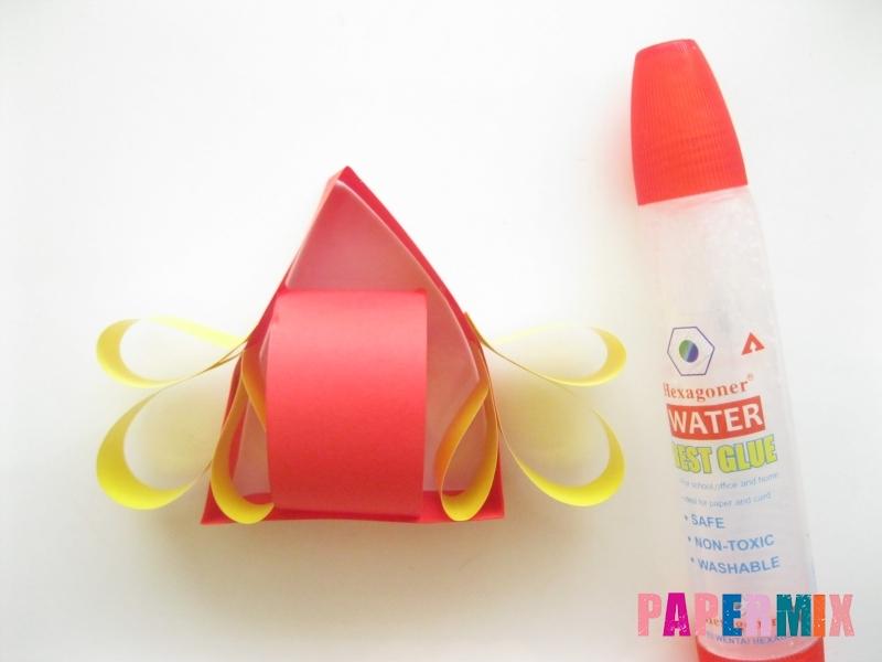 Как сделать объемного петуха из бумаги своими руками - шаг 8