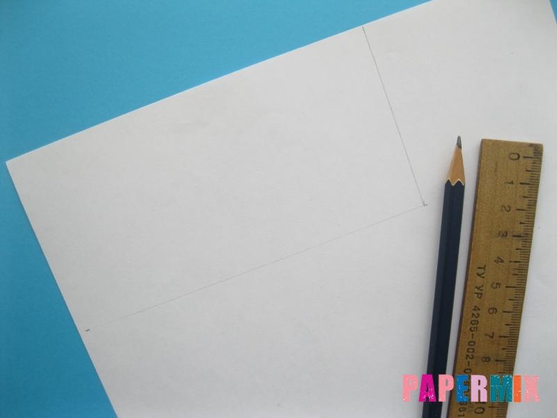 Как сделать объёмного снеговика из бумаги своими руками - шаг 1