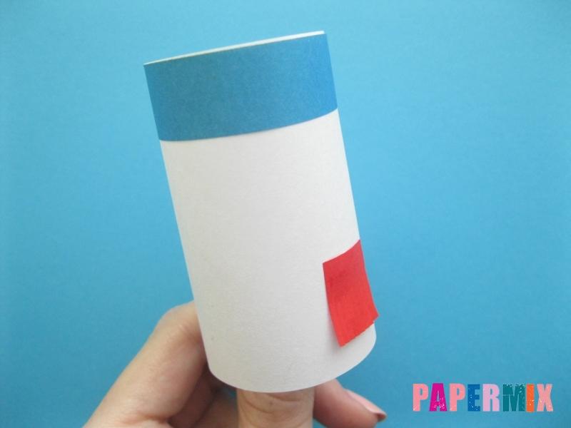Как сделать объёмного снеговика из бумаги своими руками - шаг 7