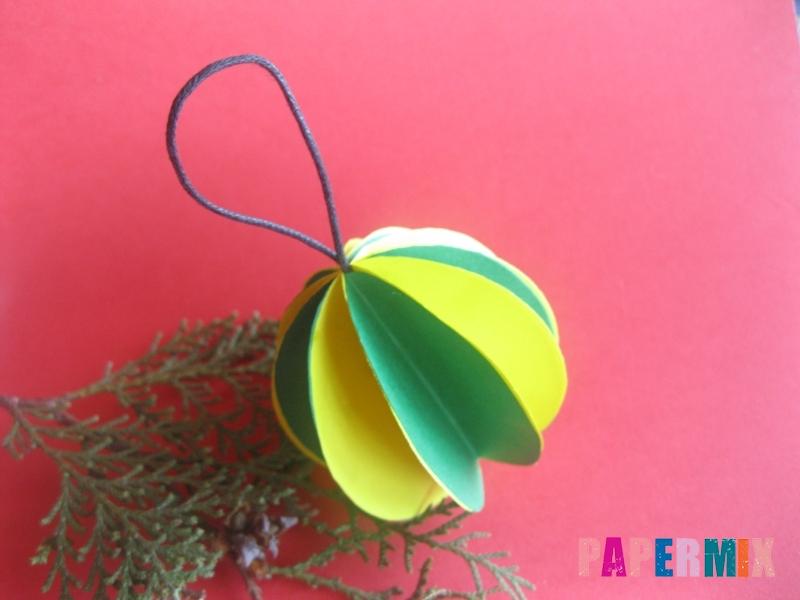 Как сделать объемный шар из бумаги на Новый год - шаг 13