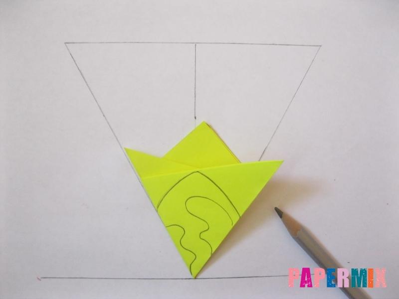 Как сделать снежинку из бумаги своими руками вариант 3 - шаг 5