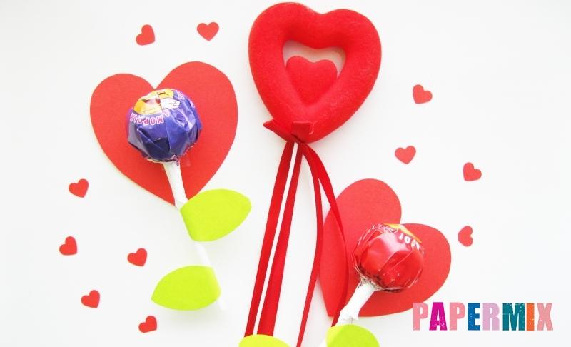 Как сделать цветочки из чупа-чупса ко дню святого валентина своими руками
