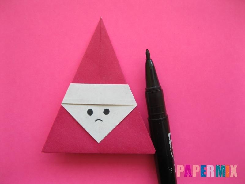 Как сделать Деда Мороза из бумаги (оригами) своими руками - шаг 10