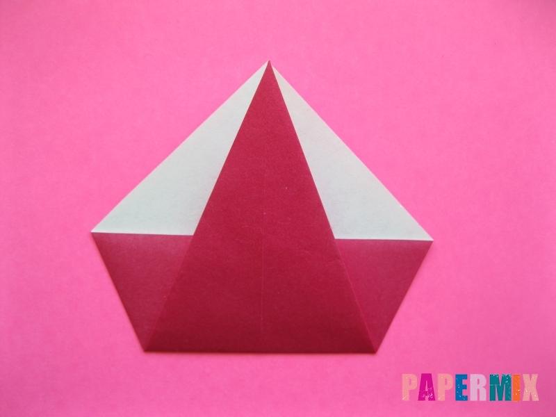 Как сделать Деда Мороза из бумаги (оригами) своими руками - шаг 5