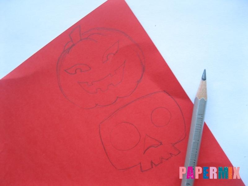 Как сделать гирлянду из бумаги на хэллоуин - шаг 1