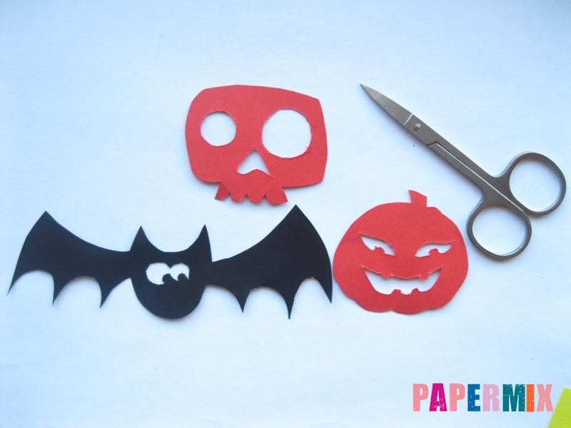 Как сделать гирлянду из бумаги на хэллоуин - шаг 3
