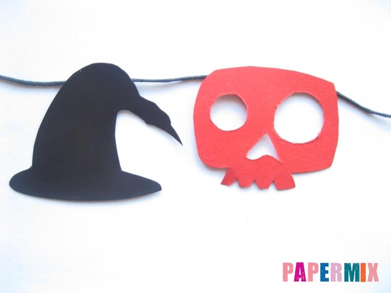 Как сделать гирлянду из бумаги на хэллоуин - шаг 6