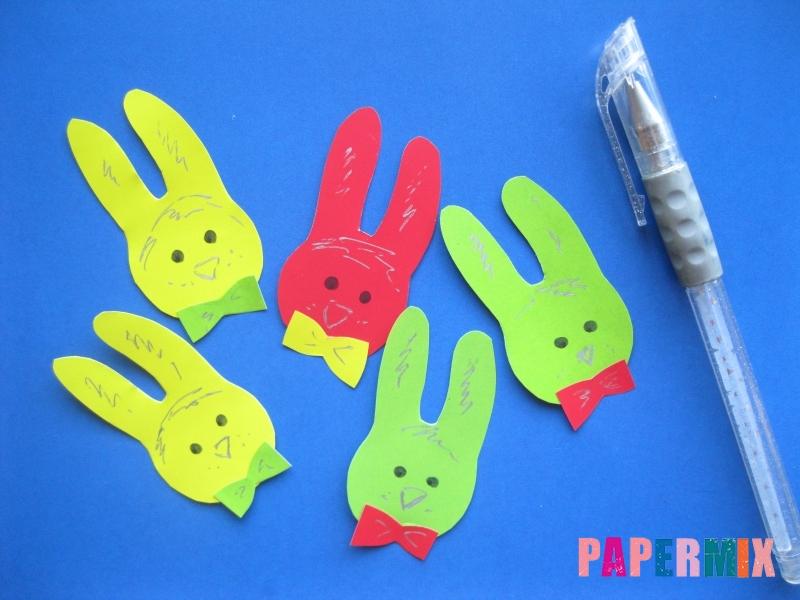 Как сделать гирлянду из бумажных зайчиков своими руками - шаг 4