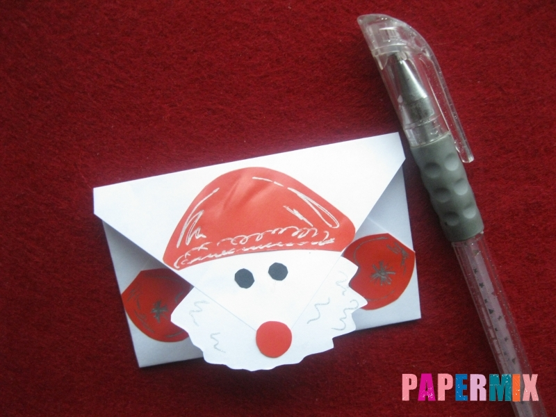 Как сделать конверт для Деда Мороза своими руками - шаг 6