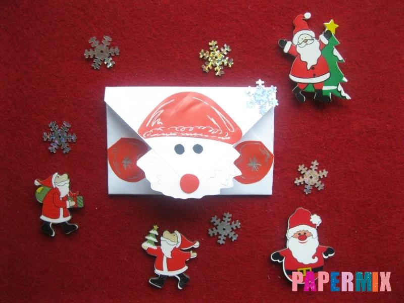 Как сделать конверт для Деда Мороза своими руками - шаг 7