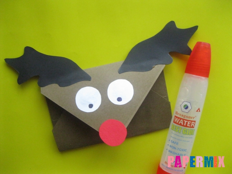 Как сделать конверт в виде оленя своими руками поэтапно - шаг 13