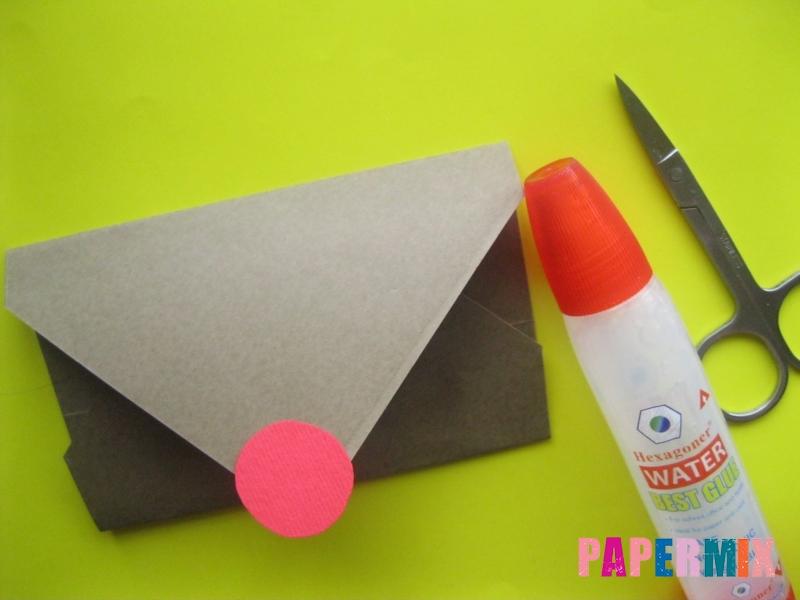 Как сделать конверт в виде оленя своими руками поэтапно - шаг 9