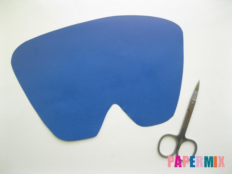 Как сделать маску Франкенштейна на хэллоуин из бумаги - шаг 2