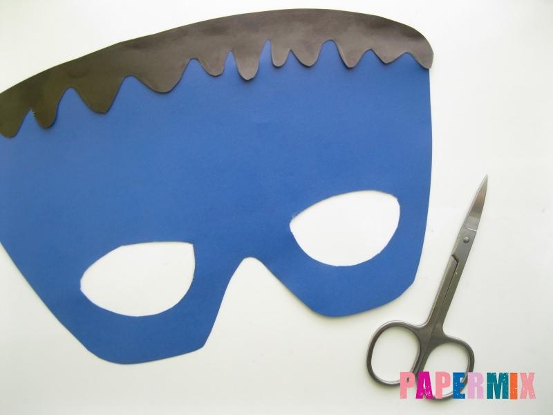 Как сделать маску Франкенштейна на хэллоуин из бумаги - шаг 6