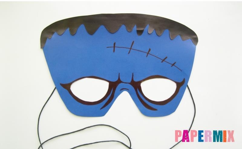 Как сделать маску Франкенштейна на хэллоуин из бумаги своими руками поэтапно