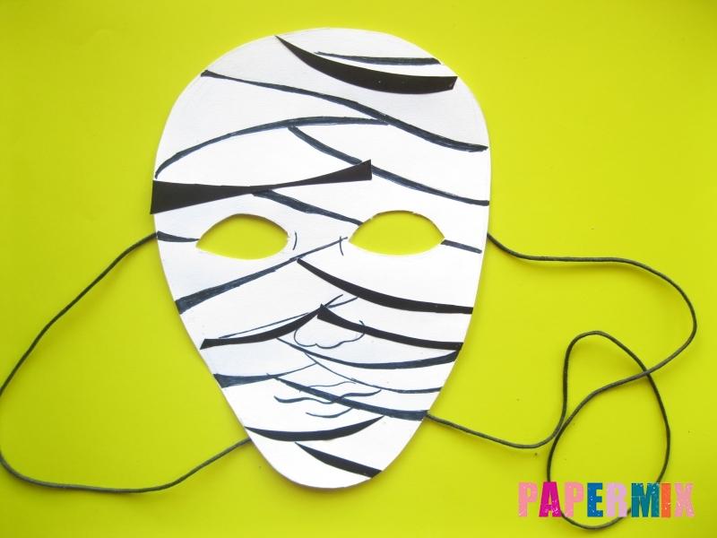 Как сделать маску мумии из бумаги на хэллоуин своими руками - шаг 11