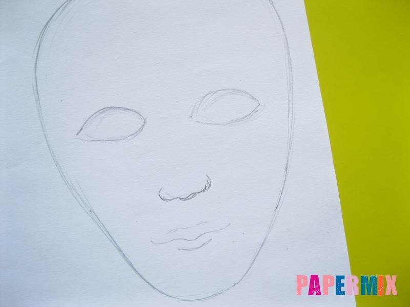 Как сделать маску мумии из бумаги на хэллоуин своими руками - шаг 2